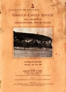 Sale catalogue and plan of Gwrych Castle Estate 1946