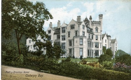 PPD/23/216- Postcard of Pwllycrochan Hotel, 1921
