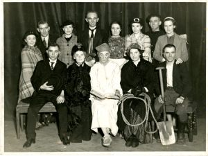 Photograph of Coultard's Amateur Dramatics society in Flint, original company, 1936- DD/ME/198