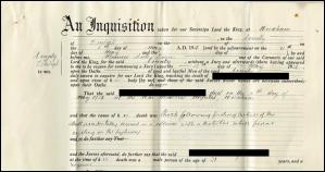 Coroner's inquest paper, 1936. CRD/1693