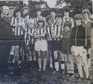 Denbighshire Free Press, Llandyrnog Under 16's in 1977 (DD/DM/1196/6)