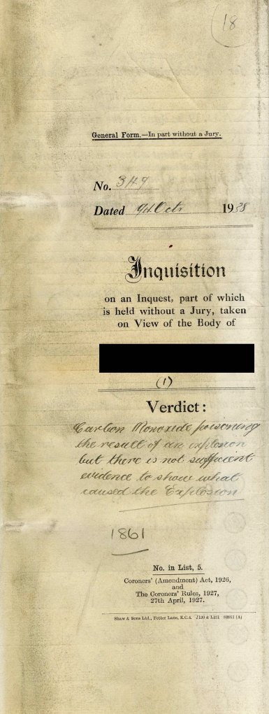 Coroner's inquisition paper- CRD/1861