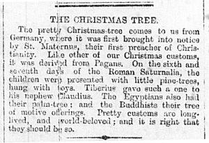 'The Christmas Tree' from the Denbighshire Free Press, 5 January 1895