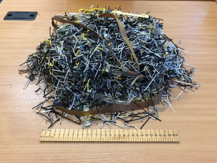 Metal Fastenings removed from patient files during February 2019