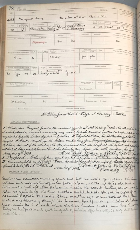 Case File 1885- Patient diagnosed with Dementia